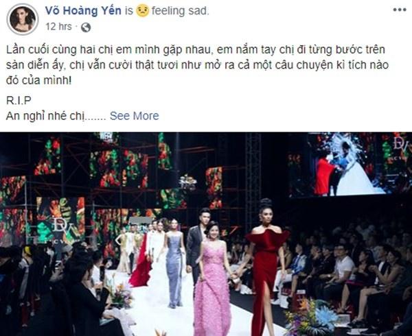 Võ Hoàng Yến khiến nhiều người xót xa khi đính kèm hình ảnh rực rỡ nhất của Mai Phương trong thời gian bạo bệnh cùng lời vĩnh biệt nữ nghệ sĩ-1