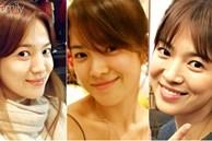 Nhìn tuyển tập ảnh mặt mộc ít son phấn của Song Hye Kyo, người ta sẽ biết nhan sắc của cô 'thần thánh' đến độ nào