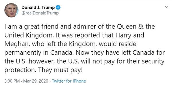 Tổng thống Trump dội gáo nước lạnh lên nhà Sussex, thẳng thừng từ chối không kiêng nể, Meghan Markle nhanh chóng đáp trả đầy sâu cay-1