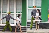 Cô gái vội vã rời khỏi toà nhà có người dương tính Covid-19 lần 1, may mắn công an phát hiện kịp