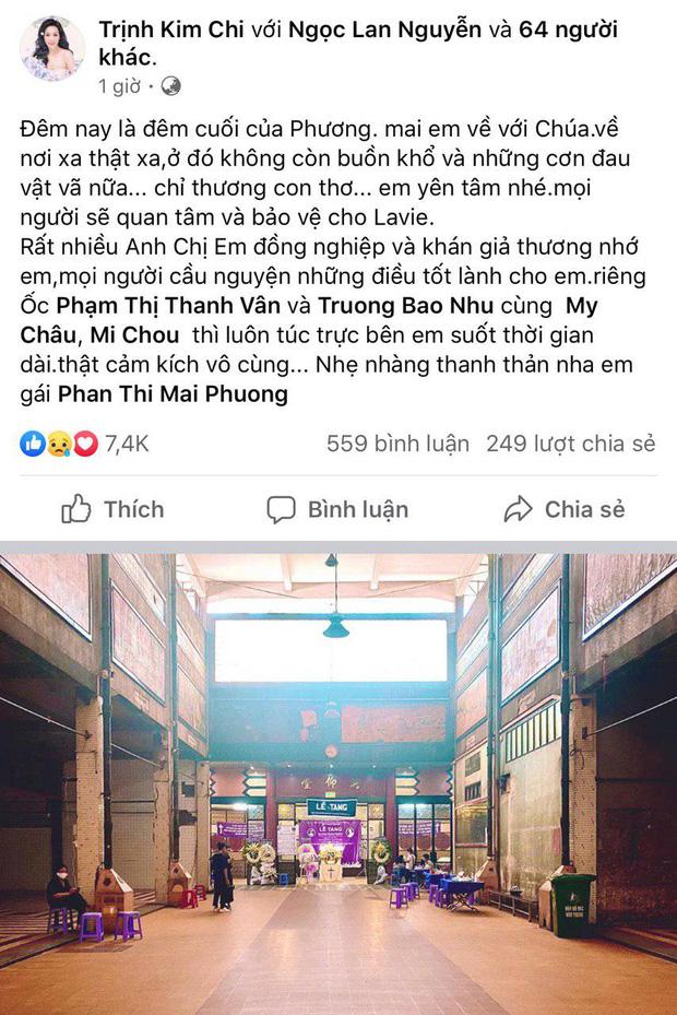NS Trịnh Kim Chi, Gia Bảo cùng nhiều đồng nghiệp không nén được đau thương trong đêm trước khi tiễn biệt Mai Phương về nơi an nghỉ cuối cùng-1