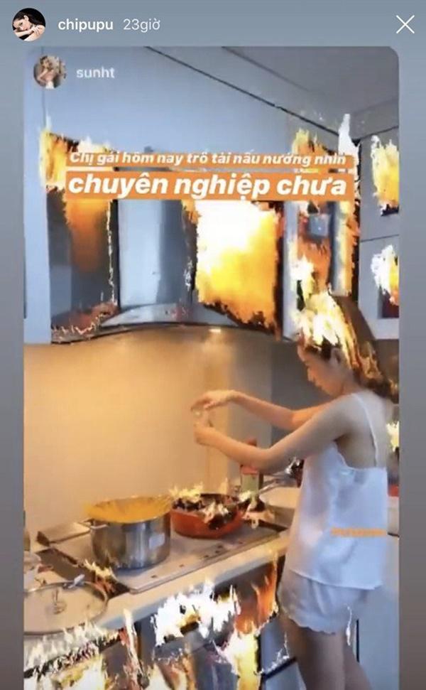 Khoe ảnh con gái vào bếp, mẹ Chi Puđược khen Nhà 2 gái, hái ra tiền-6