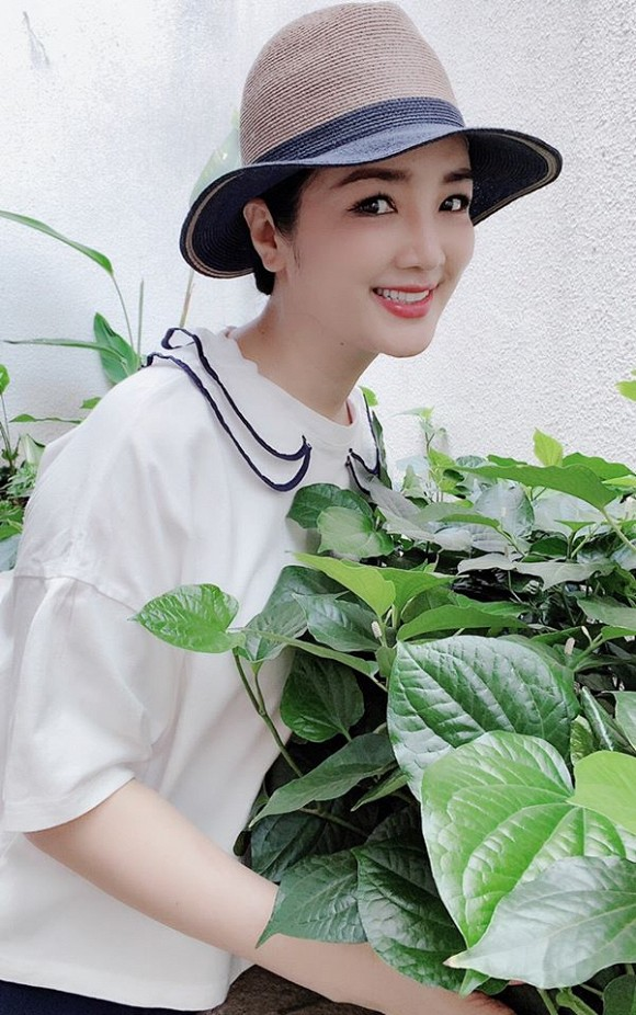 Khu vườn rau sạch trong biệt thự của Hoa hậu Đền Hùng Giáng My-5