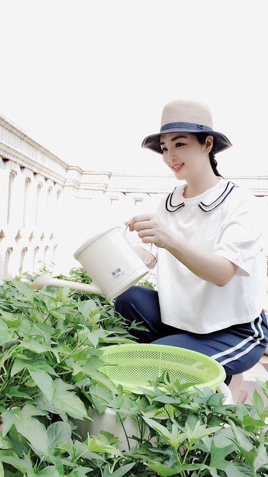 Khu vườn rau sạch trong biệt thự của Hoa hậu Đền Hùng Giáng My-8