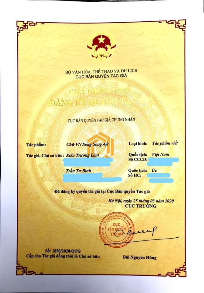Tiếng Việt không dấu chính thức được cấp bản quyền, tác giả hy vọng chữ mới có thể được đưa vào giảng dạy cho học sinh-3