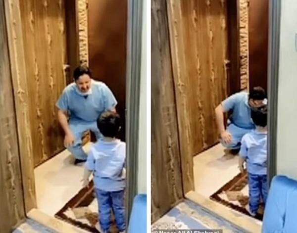 Nam y tá bật khóc vì không thể ôm con trai sau khi trở về từ bệnh viện chống dịch Covid-19-1
