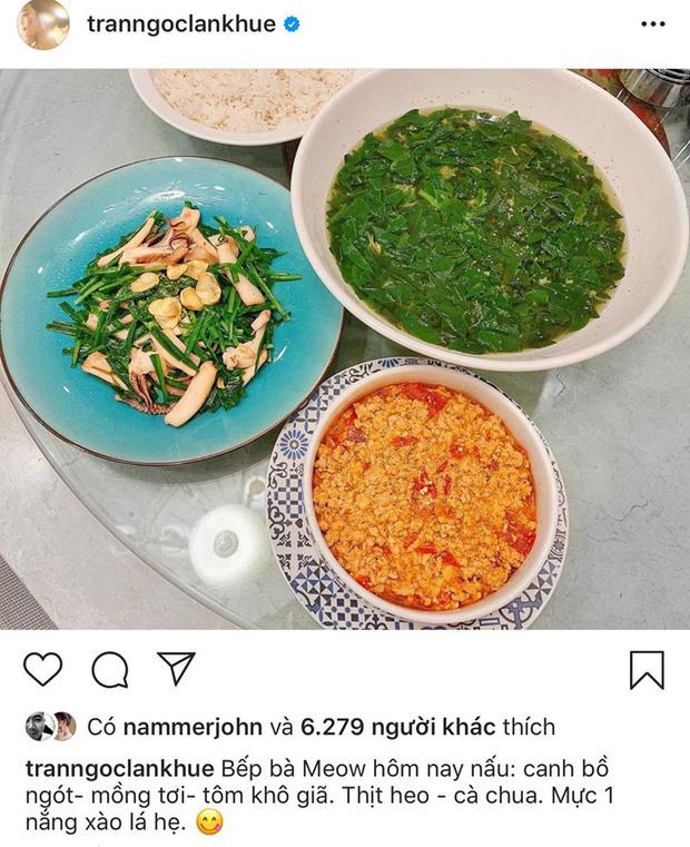 Không nhà hàng đắt đỏ, sao Vbiz tiết kiệm với mâm cơm nhà mùa dịch: Tóc Tiên nịnh chồng món ngon, Băng Di nấu bữa chỉ 50K-8