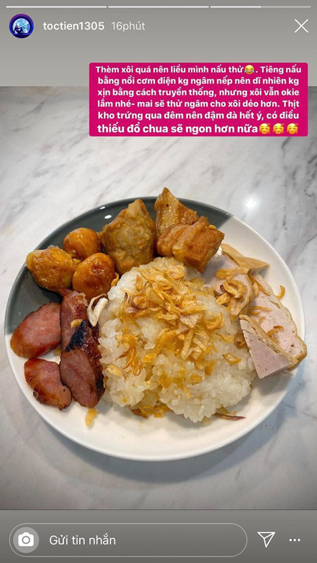 Không nhà hàng đắt đỏ, sao Vbiz tiết kiệm với mâm cơm nhà mùa dịch: Tóc Tiên nịnh chồng món ngon, Băng Di nấu bữa chỉ 50K-5