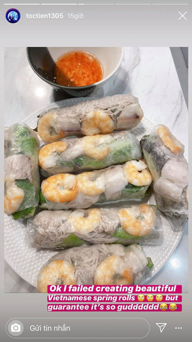 Không nhà hàng đắt đỏ, sao Vbiz tiết kiệm với mâm cơm nhà mùa dịch: Tóc Tiên nịnh chồng món ngon, Băng Di nấu bữa chỉ 50K-3