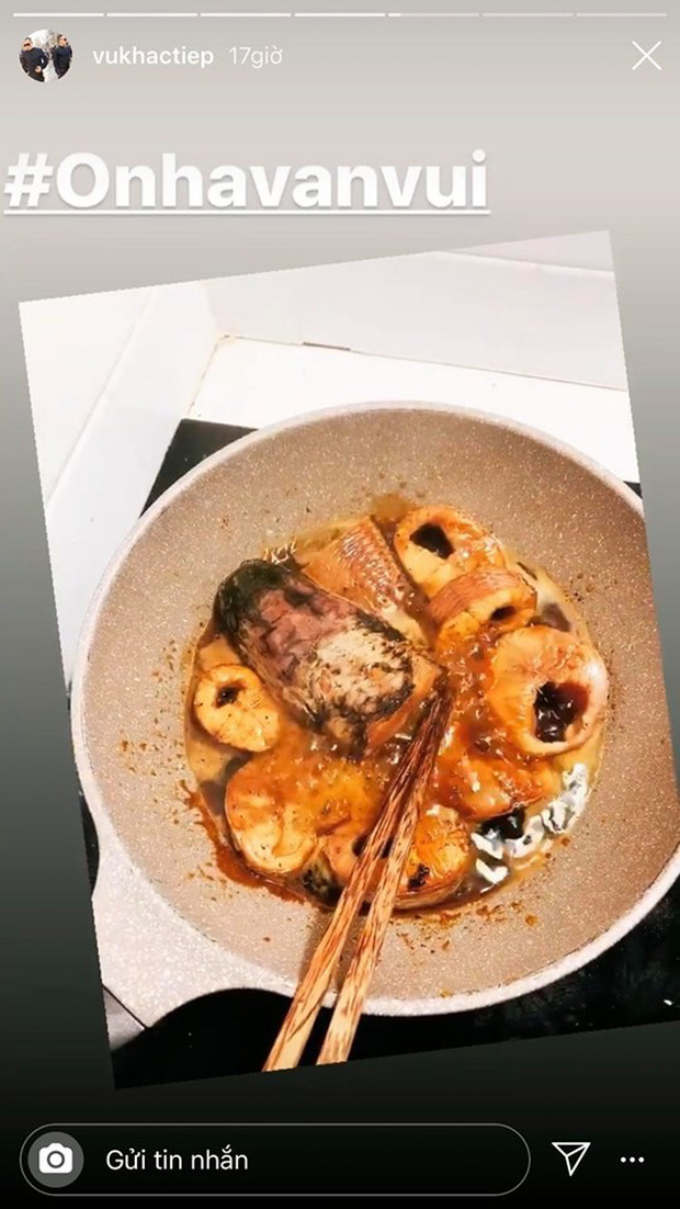 Không nhà hàng đắt đỏ, sao Vbiz tiết kiệm với mâm cơm nhà mùa dịch: Tóc Tiên nịnh chồng món ngon, Băng Di nấu bữa chỉ 50K-28