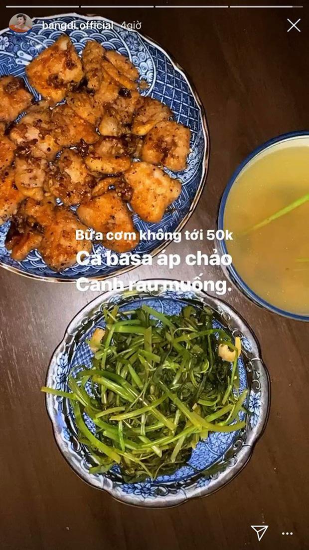 Không nhà hàng đắt đỏ, sao Vbiz tiết kiệm với mâm cơm nhà mùa dịch: Tóc Tiên nịnh chồng món ngon, Băng Di nấu bữa chỉ 50K-12