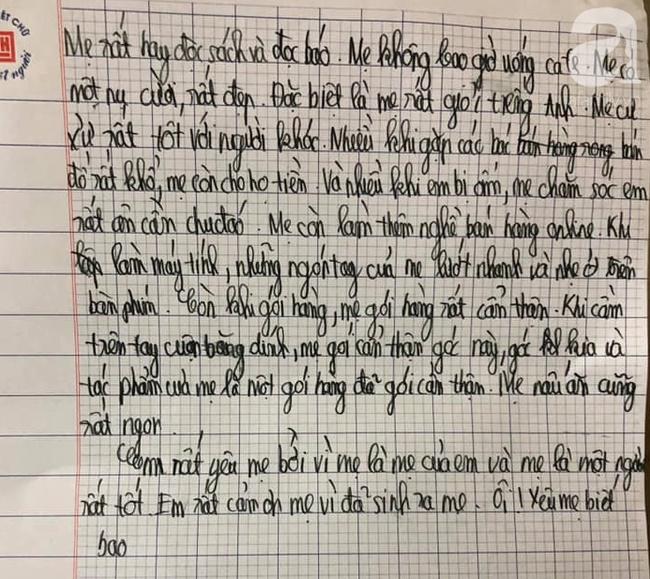 Văn tả mẹ bán hàng online rất kỹ của cậu bé lớp 5, câu kết mới khiến bà mẹ... đứng tim-2