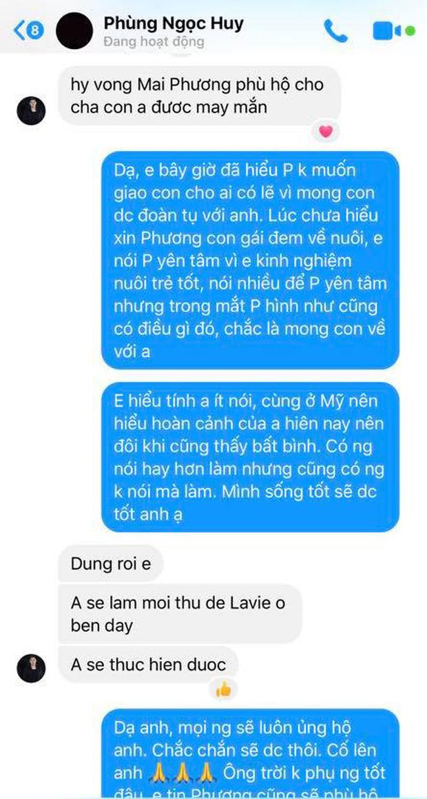 Tiết lộ tin nhắn Phùng Ngọc Huy lên tiếng về việc nuôi dưỡng bé Lavie-1