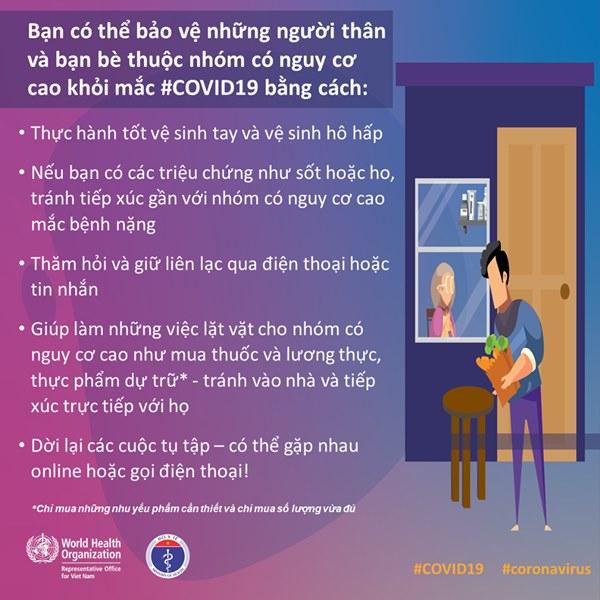 Bộ Y tế và WHO khuyến cáo: Những việc quan trọng cần phải thực hiện ngay nếu bạn thuộc nhóm nguy cơ cao nhiễm COVID-19-1