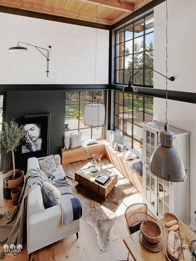 Ngôi nhà có gác lửng được thiết kế ấn tượng đến mức mới nhìn người xem đã phải chết mê từng góc cạnh, đường nét-3