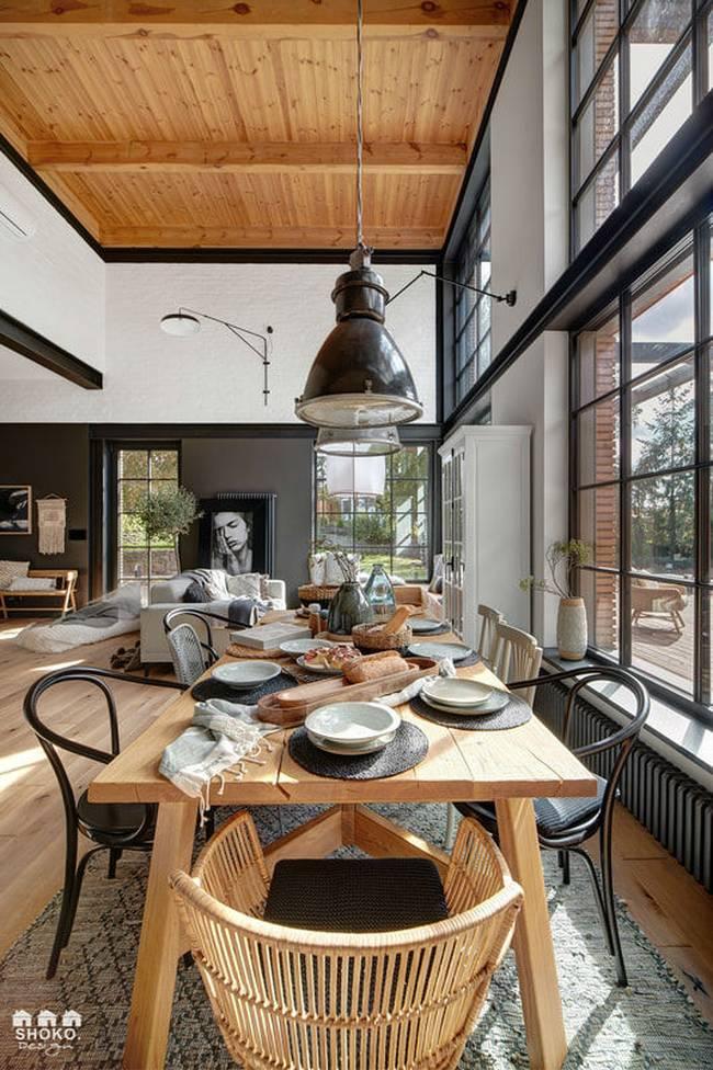 Ngôi nhà có gác lửng được thiết kế ấn tượng đến mức mới nhìn người xem đã phải chết mê từng góc cạnh, đường nét-4