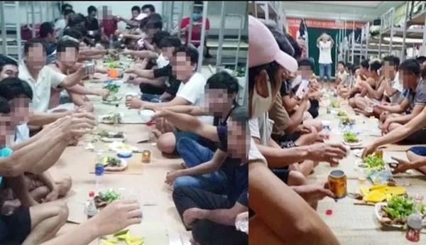 Nhóm người tụ tập ăn uống trong khu cách ly bị phạt 800.000 đồng-1