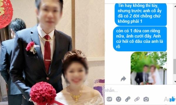 Bất chấp gia đình phản đối để cưới người phụ nữ đã qua 1 đời chồng và có 1 con riêng, ai ngờ giữa đêm tân hôn chú rể nhận tin nhắn: Tin hay không cứ hỏi cô ấy sẽ rõ-1