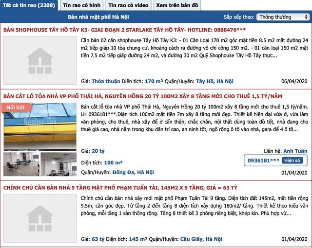 Hàng loạt chủ nhà rao bán nhà phố mặt tiền trung tâm với giá giật mình-1