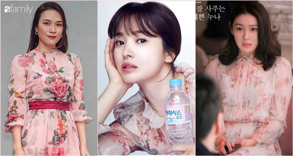 Cùng một kiểu váy hack tuổi: Song Hye Kyo thì được khen, Mỹ Tâm lại bị chê hơi sến-7
