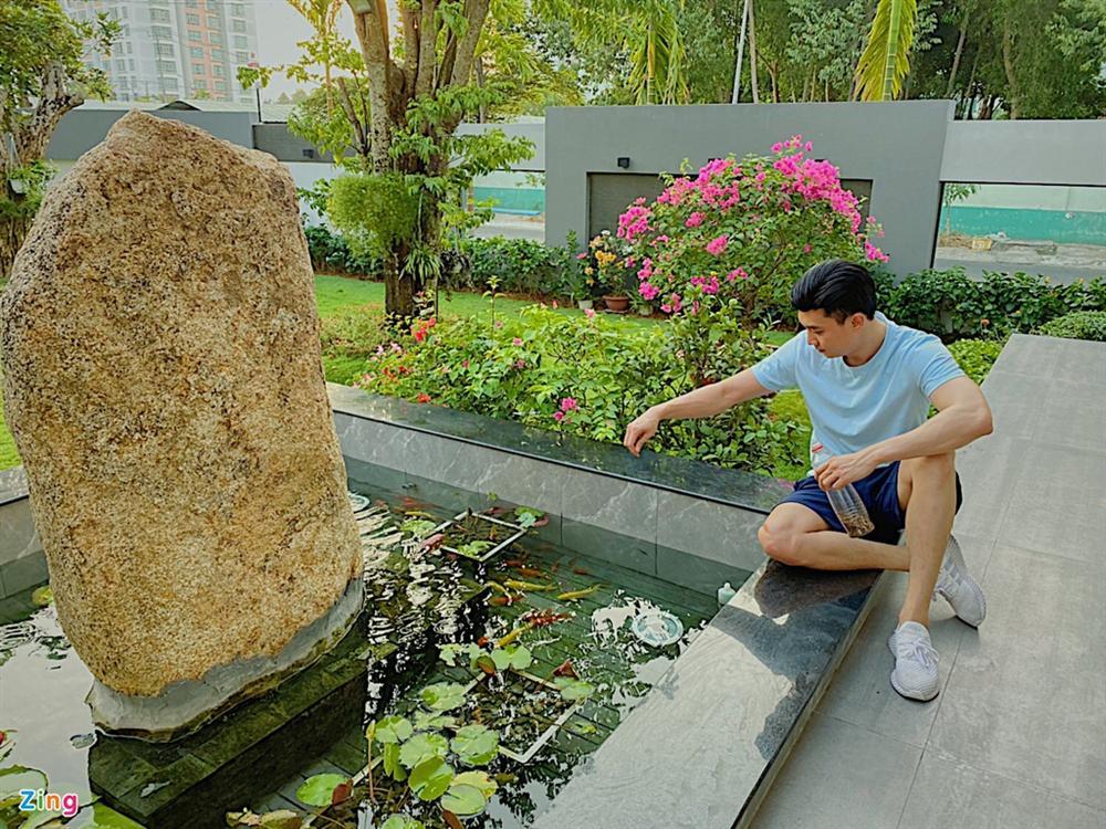Quốc Trường chăm sóc vườn cây cổ thụ trong biệt thự 700 m2-6
