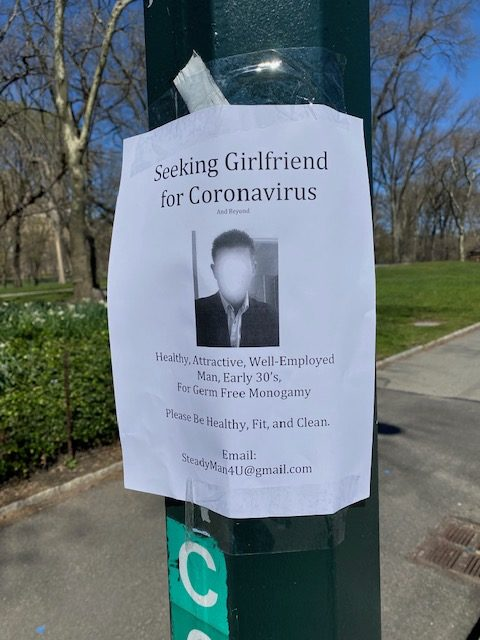 Chàng trai dán tờ rơi tuyển bạn gái trên khắp các thân cây trong công viên, nhìn kỹ yêu cầu hàng đầu ai nấy đều giật mình-1