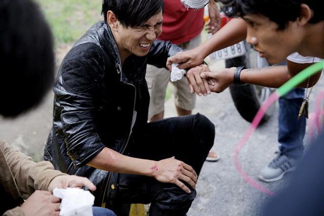 Sao Việt đau đớn do tai nạn hi hữu ở hậu trường: Trúc Anh bị xe lôi xềnh xệch, Lý Hải - Trương Ngọc Ánh đổ máu vì vai diễn-3