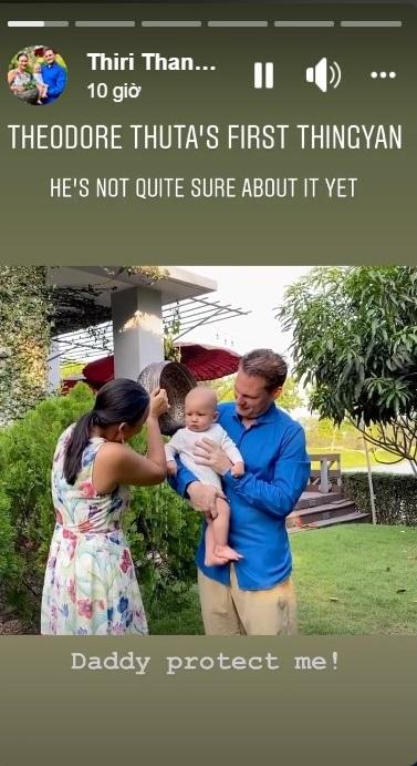 Vợ đại gia của chồng cũ Hồng Nhung khoe khoảnh khắc hạnh phúc cùng ông xã và con trai đón năm mới truyền thống Myanmar-3