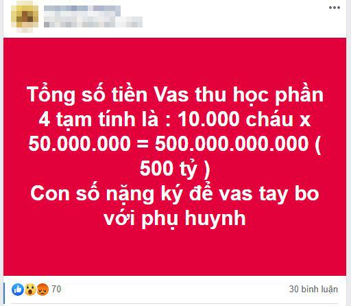 Từ bức xúc vì Trường Quốc tế thu học phí cả trăm triệu dù tiền trước đó chưa dùng đến, phụ huynh làm các phép tính rồi giật mình với những con số biết nói-1