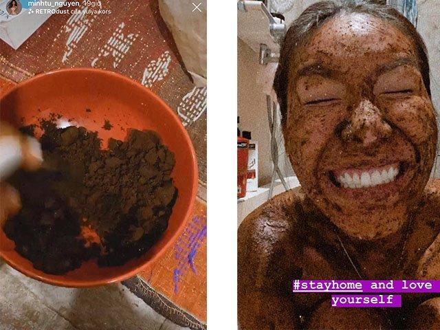 Bị kẹt ở đảo Bali vì dịch Covid-19, Minh Tú chia sẻ bài tập ở nhà với balo, tự làm đẹp với bột cafe-2