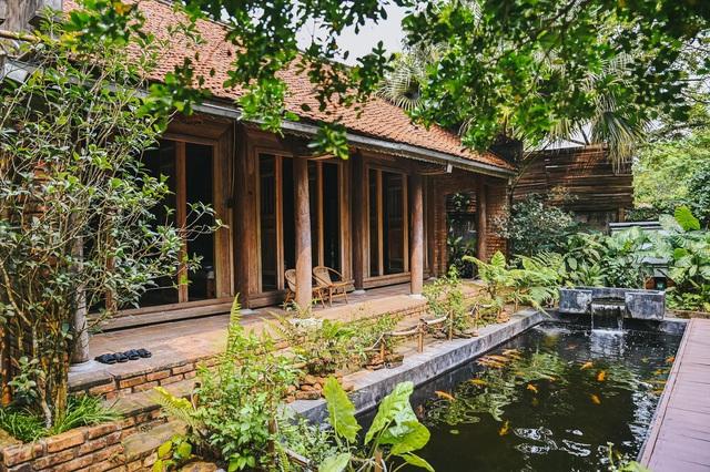 Ngôi nhà trong mơ trên đỉnh núi gần Hà Nội: Cá đầy ao, vườn đầy hoa trái-7