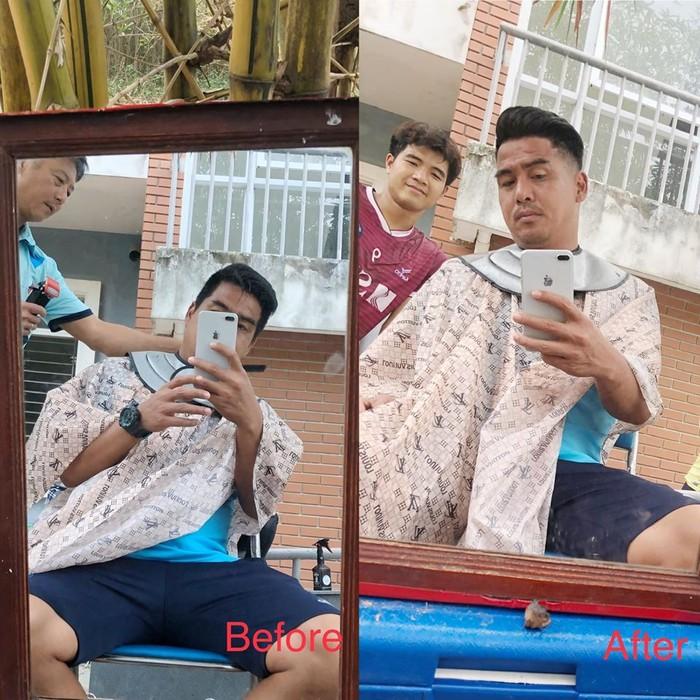 Chuyện tóc tai mùa dịch của cầu thủ: Đức Chinh cố thủ không để thầy cắt tóc, bất ngờ với Đình Trọng râu ria xồm xoàm-4