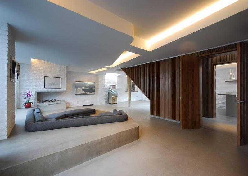 Không gian độc đáo của ngôi nhà có phòng khách được thiết kế chìm-2