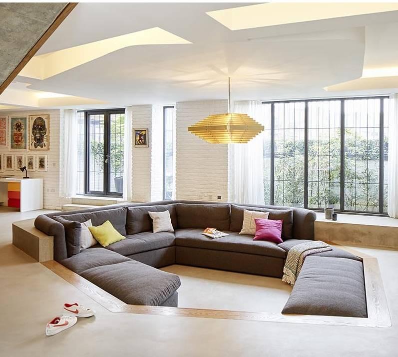 Không gian độc đáo của ngôi nhà có phòng khách được thiết kế chìm-5