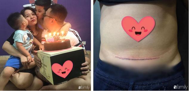 Thương vợ mang nặng đẻ đau 2 lần, ông bố trẻ Hà Nội âm thầm đi xăm vết sẹo mổ y hệt vợ để động viên bà xã-4