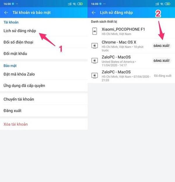 Cách đăng xuất tài khoản Zalo và Facebook từ xa-3