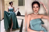 Hoa hậu Khánh Vân mặc đầm công chúa cổ tích, đội vương miện chỉ để đi... đổ rác