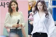Áo sơ mi/blouse trắng nhạt cỡ nào thì vào tay các mỹ nhân Hàn cũng ra được những set đồ đẹp mê ly