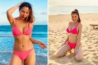 Màn 'đụng hàng' cực nóng sau dịch: Quế Vân - Minh Triệu đọ body với bikini hồng neon