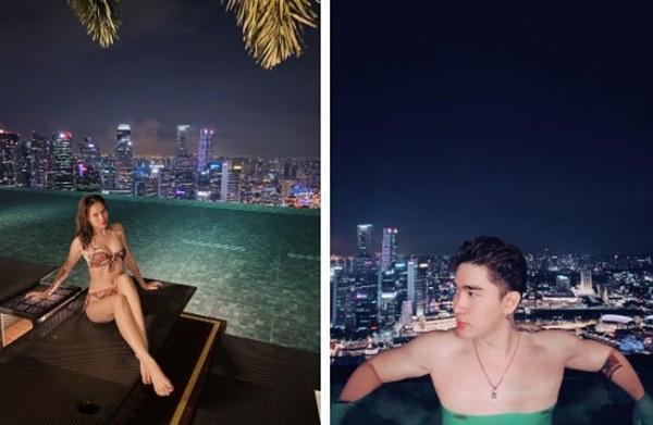 Cố tình che giấu nhưng Ninh Dương Lan Ngọc và Chi Dân vẫn để lộ việc đi du lịch Singapore cùng nhau-1