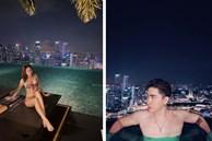 Cố tình che giấu nhưng Ninh Dương Lan Ngọc và Chi Dân vẫn để lộ việc đi du lịch Singapore cùng nhau