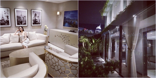 Hé lộ không gian riêng tư của vợ chồng Huyền Baby trong biệt thự triệu đô giữa Sài thành-2