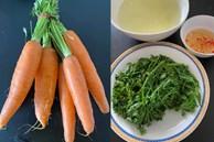 Chồng vào bếp chưa bao giờ hết bi hài, vợ dặn luộc cà rốt lại làm món rau 'quen mà lạ' ai nhìn cũng ngẩn tò te