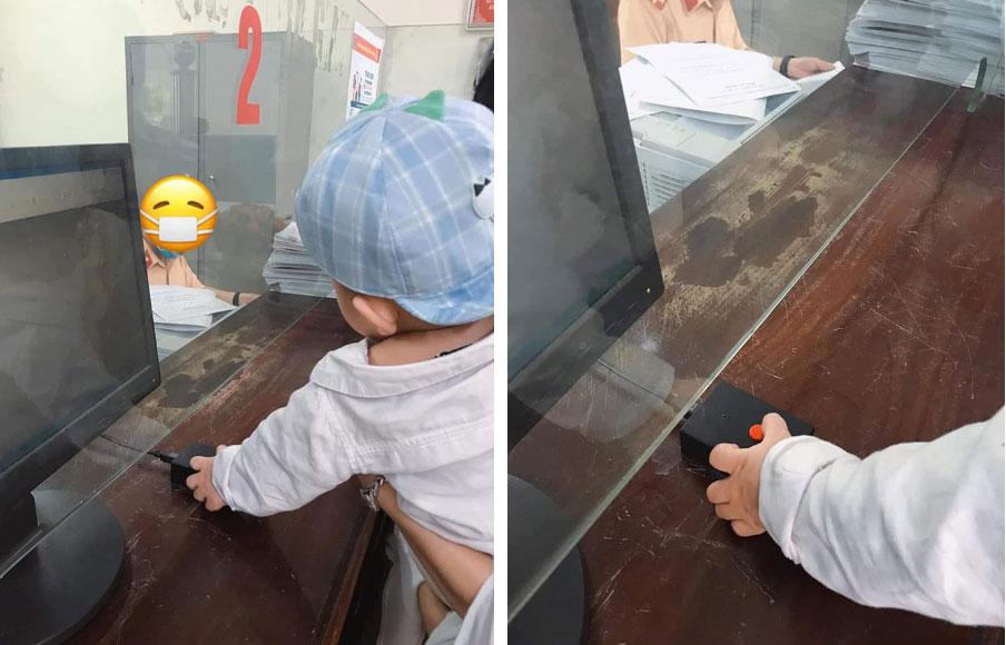 Em bé thay bố bấm biển xe ô tô, không ngờ lại mang về kết quả cực độc khiến nhiều người phải ao ước-1