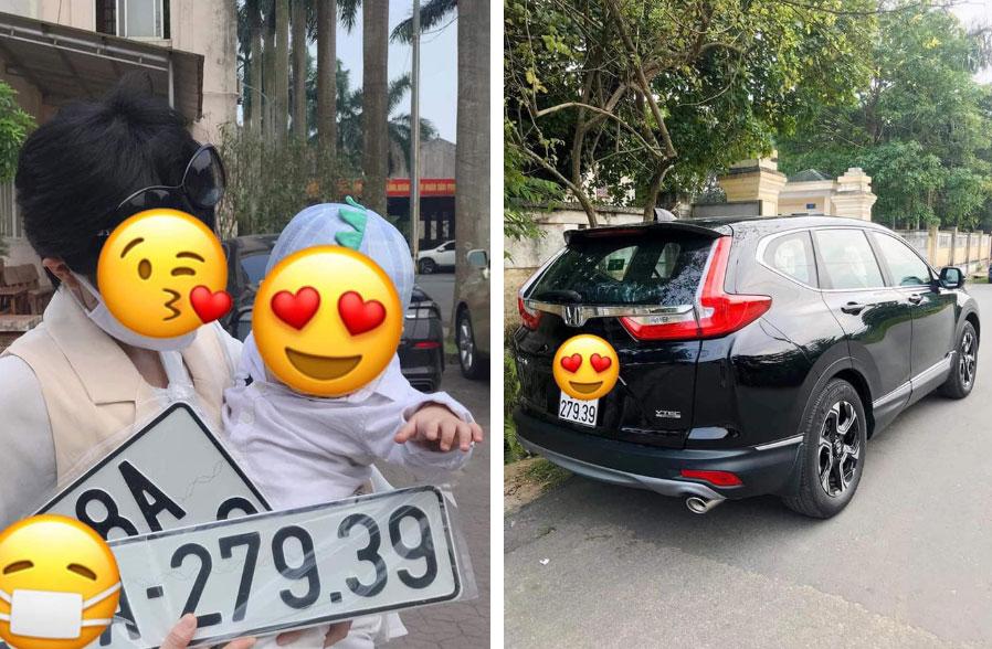 Em bé thay bố bấm biển xe ô tô, không ngờ lại mang về kết quả cực độc khiến nhiều người phải ao ước-2