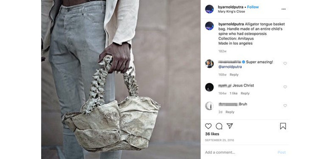 Sử dụng xương sống của trẻ em để làm quai túi xách, nhà thiết kế thời trang nổi tiếng bị cộng đồng mạng đánh sập tài khoản-2