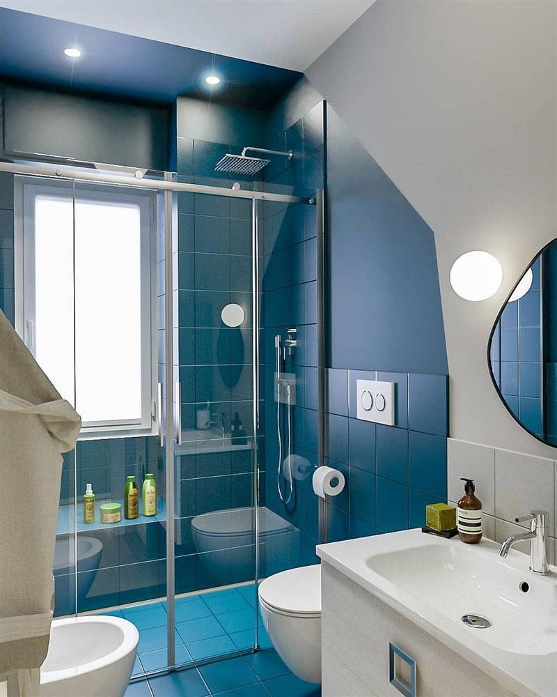 Gam màu xanh và trắng: Bộ đôi hợp thời trang và vượt thời gian cho phòng tắm nhà bạn-2