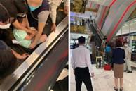 Xôn xao hình ảnh bé trai bị kẹt chân vào thang cuốn ở trung tâm thương mại và những điều bố mẹ cần lưu ý khi đưa con đi chơi