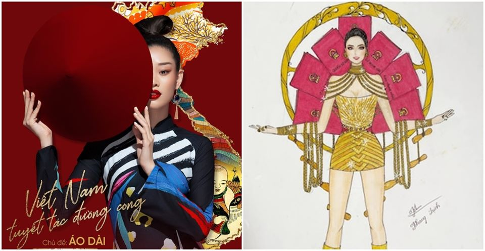 Bản thiết kế trang phục dân tộc 7 miếng đất cho Khánh Vân thi Miss Universe 2020 gây tranh cãi-1