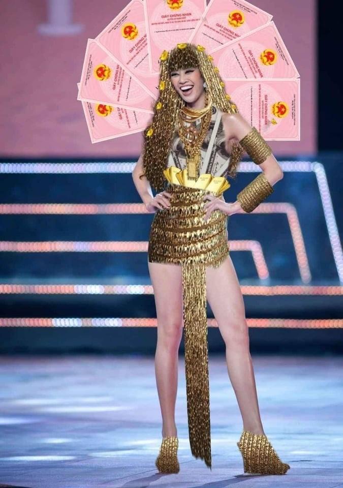 Bản thiết kế trang phục dân tộc 7 miếng đất cho Khánh Vân thi Miss Universe 2020 gây tranh cãi-3